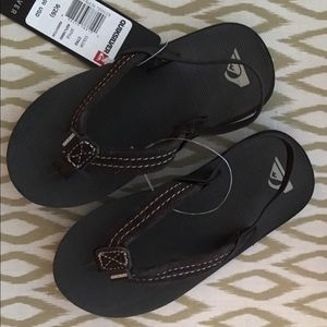 Quicksilver Toddler 9 Brown Suede Flip Flip Sandal